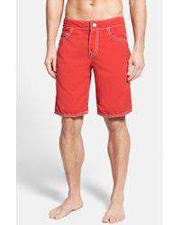True Religion 'Ricky' Board Shorts - Lyst