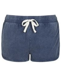 Topshop Washed Side Step Runner Shorts - Lyst