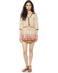 Spell - Desert Wanderer Play Dress Gypsy Print Mustard - Lyst