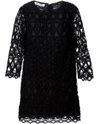 Dondup Crocheted Shift Dress - Lyst