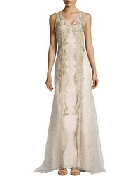 Carolina Herrera Eastern Silk Double Georgette Gown - Lyst