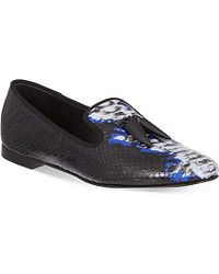 Giuseppe Zanotti Sierre Snake-Print Slippers - For Women - Lyst