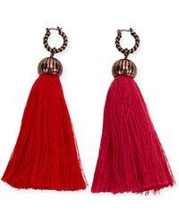 Lanvin - Tassel Drop Earrings - Lyst