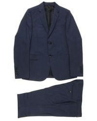 Gucci Pinstriped Blue Classic Suit - Lyst