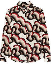 Jonathan Saunders - Alana Printed Silk Crepe De Chine Shirt - Lyst