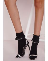 Missguided - 3 Pack Ankle Socks Lace Black - Lyst