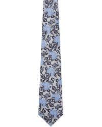 Duchamp | Floral Print Silk Tie | Lyst