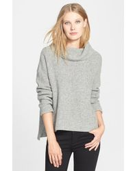 Eileen Fisher Yak & Merino Cowl Neck Sweater - Lyst