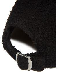 Larose Pilled Wool Cap - Black