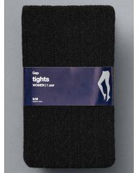 Gap Cable-knit Ribbed Tights - Black
