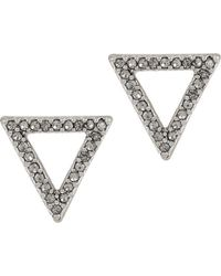 Kenneth Cole - Delicates Pave Open Triangle Stud Earrings - Lyst