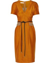 Matthew Williamson Woven Silk Dress - Lyst