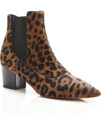 Tabitha Simmons Shadow Printed Calf Hair Ankle Boots - Lyst