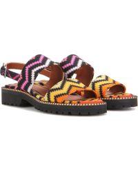 Missoni Raschel Zig Zag Printed Sandals - Multicolour