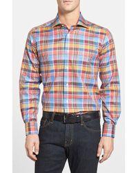 David Donahue Regular Fit Sport Shirt - Lyst