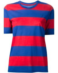 Etoile Isabel Marant Striped T-Shirt - Lyst