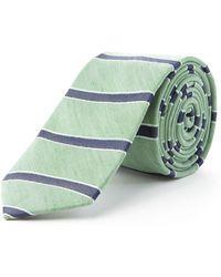 Racing Green Melia Horizontal Stripe Tie - Green