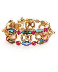 House of Lavande - 1950s Vintage Multicolor Faceted Bracelet - Lyst