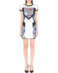 Just Cavalli Short-Sleeved Bodycon Dress - Lyst