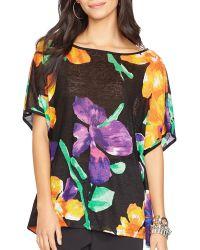 Ralph Lauren Lauren Floral Print Poncho Top - Lyst