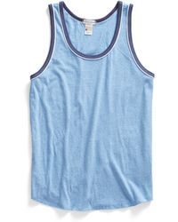 Todd Snyder X Champion Piped Tank Top In Blue Mix - Lyst