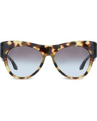 Prada Spr28Q Havana Tortoise Shell Pilot Sunglasses - For Women - Lyst