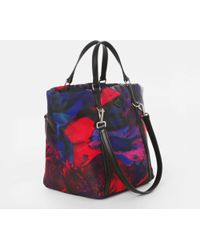 MZ Wallace Small Astor Tote Pink Lava Puff Bedford multicolor - Lyst