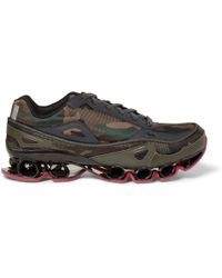 Raf Simons Adidas Bounce Camouflagepatterned Canvas Sneakers - Lyst