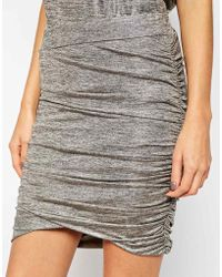 Y.A.S Twist Skirt In Metallic Melange - Lyst