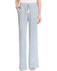 Joie - 'ferina B' Print Silk Pants - Lyst