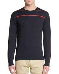Armani Stripe-Trim Wool & Cashmere - Lyst