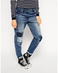 Bellfield - Boyfriend Jeans With Patches - Lyst