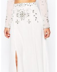 Frock and Frill - Thigh Split Maxi Skirt With Embellishment - Lyst