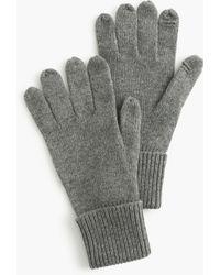 J.Crew Tech-friendly Gloves - Gray