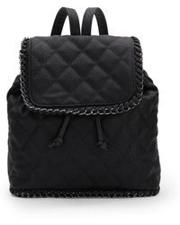 Saks Fifth Avenue Quilted Nappa Leather Backpack - Black