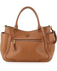 Tory Burch Frances Leather Satchel Bag - Lyst