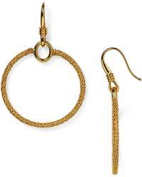 Diane von Furstenberg Drop Hoop Earrings - Metallic