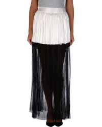 Haider Ackermann Black Long Skirt - Lyst
