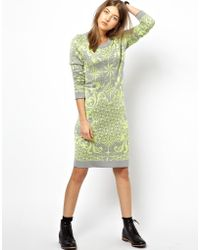 Paul by Paul Smith Intarsia Knitted Dress in Compass Print - Lyst