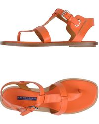 Ralph Lauren Orange Sandals - Lyst
