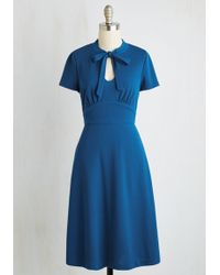 ModCloth | Archival Revival Dress In Lake Blue | Lyst