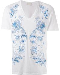 Alexander McQueen Bandana Embroidered T-Shirt - Lyst