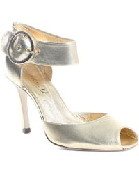 Boutique 9 Gold Manny Heel - Lyst