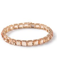 Ippolita 18k Gold Rock Citrine Tennis Bracelet In Candy Orange