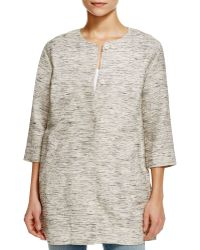 Eileen Fisher | Running Stitch Long Jacket | Lyst