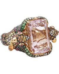Wendy Yue Kunzite Bird Ring gold - Lyst