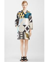MSGM Mix Print Notch Collar Jacket - Lyst