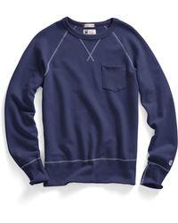 Todd Snyder X Champion Pocket Sweatshirt In Mast Blue - Lyst