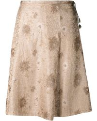 Dosa - Brocade Flared Skirt - Lyst