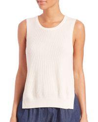 Equipment | Bay Cotton/cashmere Knit Vest | Lyst